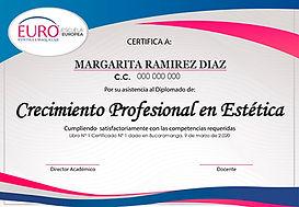 Euro Certificado Crecimiento Profesional