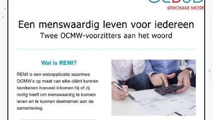REMI-ervaringen van OCMW-voorzitters