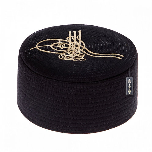 Muslim Hat Turkish Skull Cap  Kufi Islamic Prayer Namaz-Black