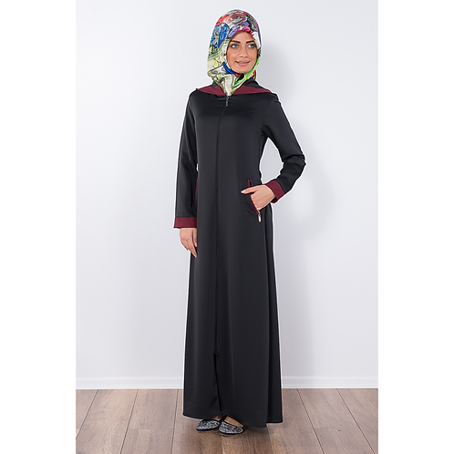 Moda verda Abaya Black~