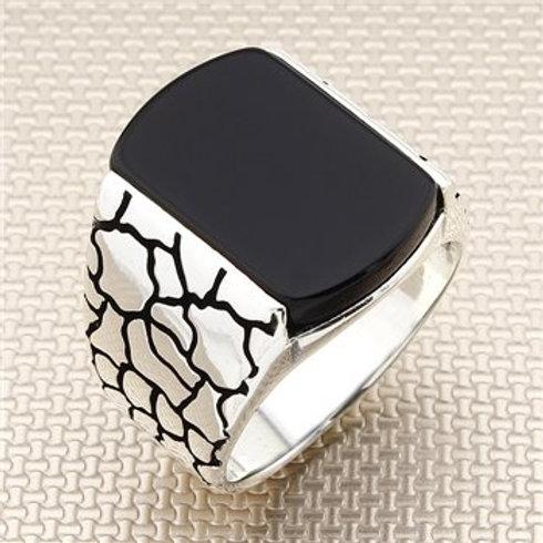 925 carat rec small stone onyx ring