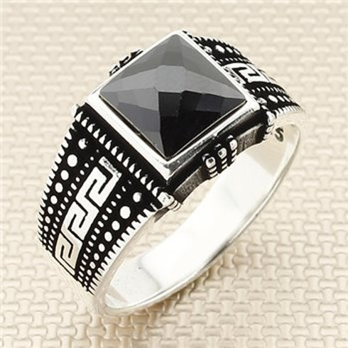 925 carat small stone dime onyx ring