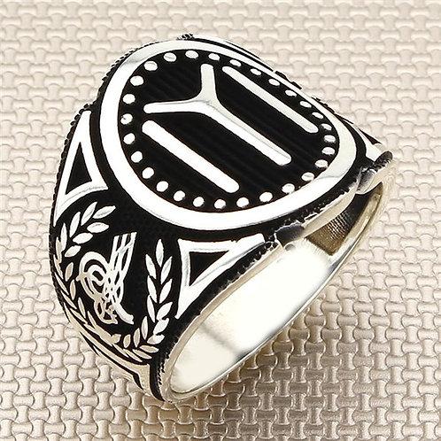 Kayi Tribe Tughra 925 carat ring