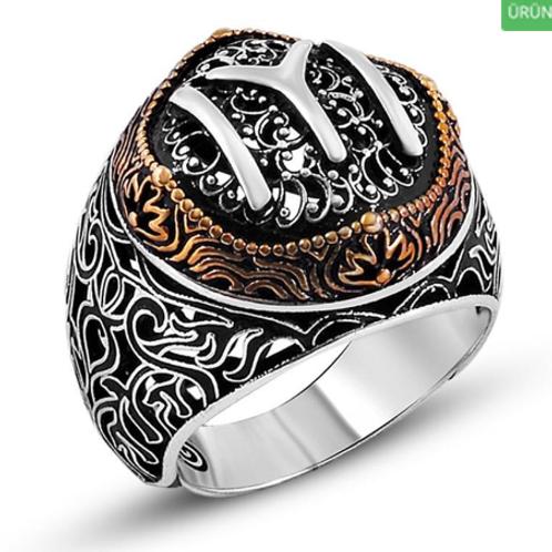 925 Kayi Tribe Mens Silver Ring 020