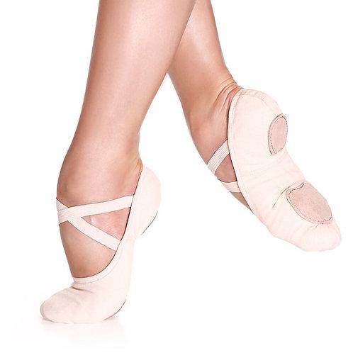 Stretch Canvas Split Sole Ballet Slipper