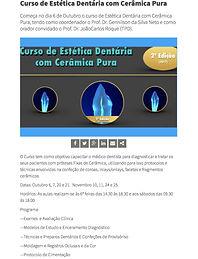Jornal Dentistry - Curso de Estética Dentária com Cerâmica Pura