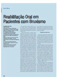 Artigo na RevistaSaúde Oral - Reabilitação Oral em Pacientes com Bruxismo