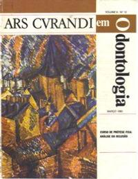Artigo na Revista ARS CVRANDI -Influência do troquel de gesso tratado com resina fluída no comportamento de restaurações metálicas fundidas