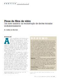 Artigo na RevistaPrática Clínica - Pinos de fibra de vidro