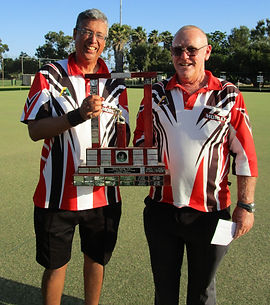 Pairs Winners Pinto and Mitchell [33227]