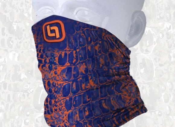 BGO Orange & Blue Camo Face and Neck Shield