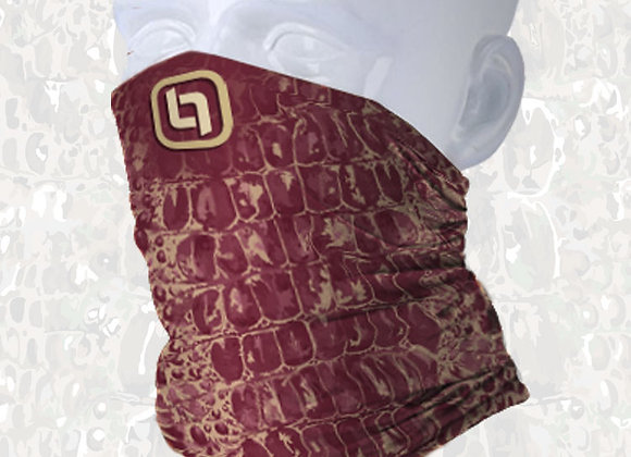 BGO Garnet & Gold Camo Face and Neck Shield