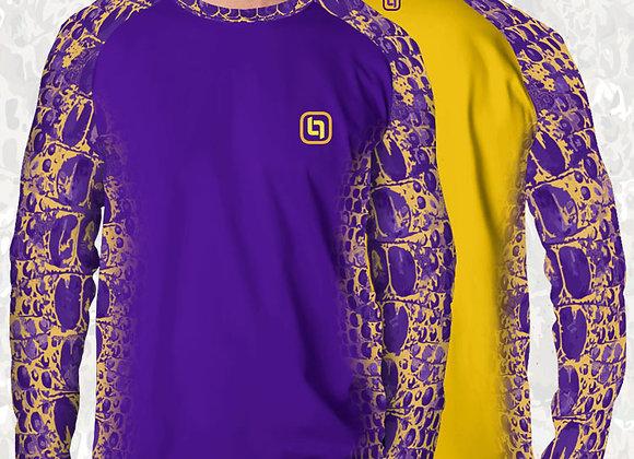 BGO Performance 2-Tone Purple & Yellow Camo Long Sleeve