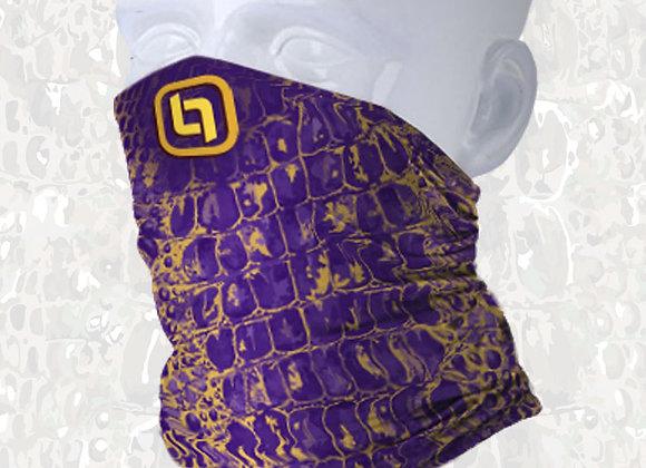 BGO Purple & Yellow Camo Face and Neck Shield