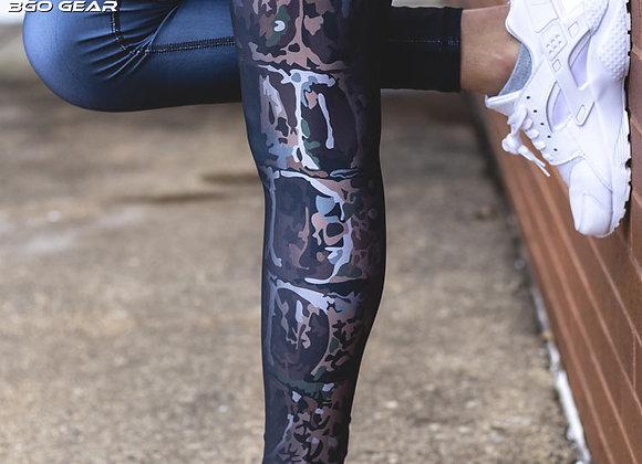 BGO Performance Black Camo Leggings