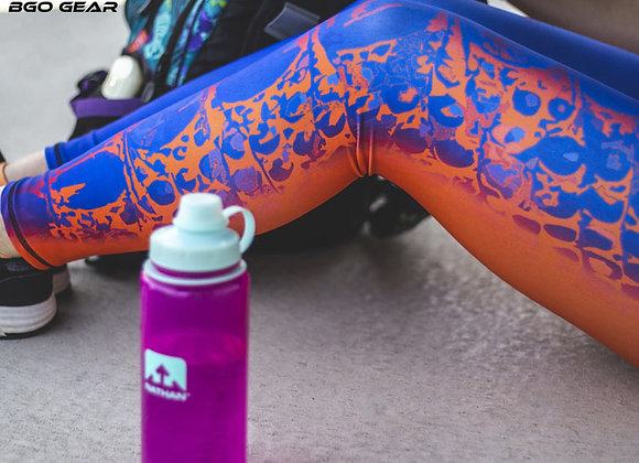 BGO Performance 2-Tone Orange & Blue Camo Leggings