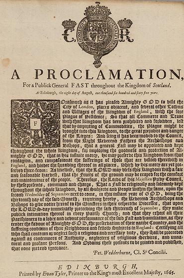 1665 Scot proclamation  Harvard Library.
