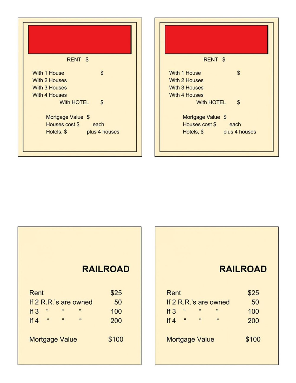 Make Your Own Board Game With Clue Card Template