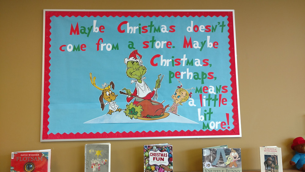 the grinch bulletin board