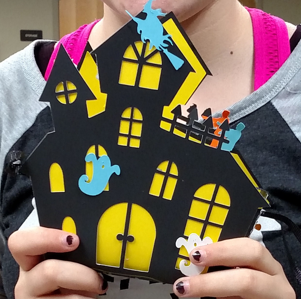 haunted house paper craft