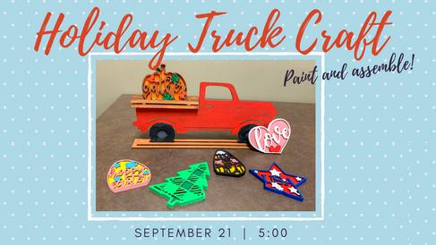 Holiday Truck Craft