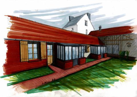 Réaménagement et réhabilitation d'une maison paysanne