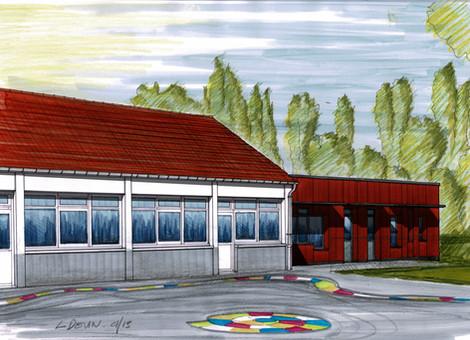 Création d'une salle de classe maternelle et d'un dortoir
