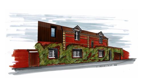 Etude pour la sur-élévation et l'extension d'une maison en Brique à Saint Martin le Noeud (60)