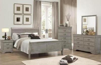 Louis Philip Bedroom Set Gray