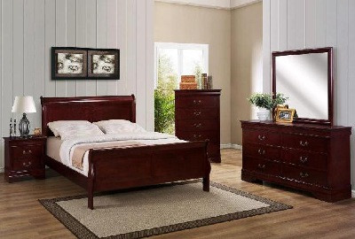 Louis Philip Bedroom Set Cherry