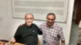 Carlos Guido con uno de sus profesores (el Maestro Jose Carli)