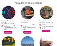 Publicidad de Charla mia en Enlazados .j