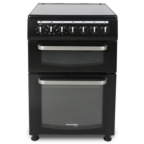 Montpellier TCC60BK Black Double Oven Ceramic Hob Cooker