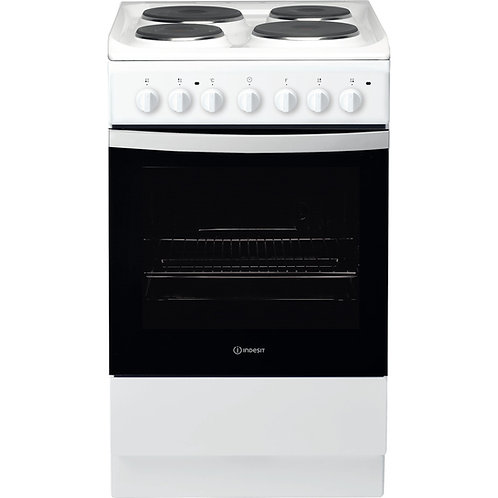 Indesit IS5E4KHW 50cm Single cooker