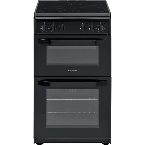 Hotpoint HD5V92KCB Black 50cm Double Oven Cooker