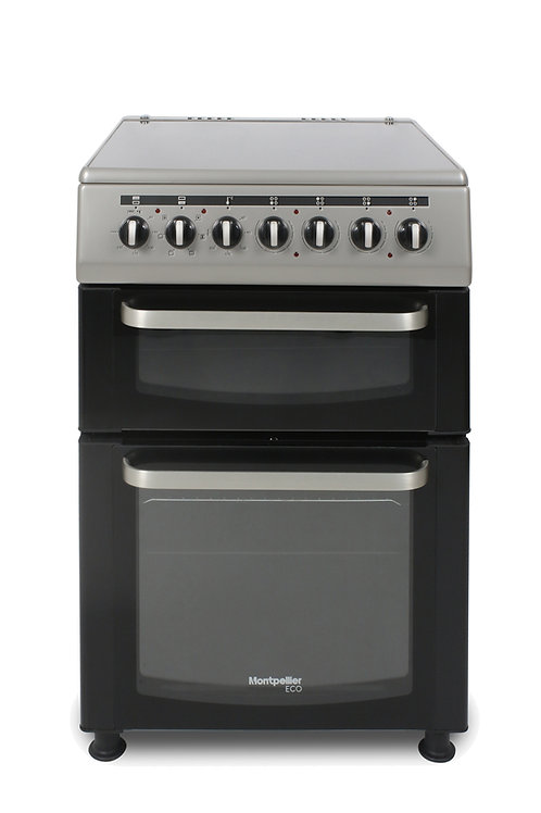 Montpellier TCC60SS Silver Double Oven Cooker