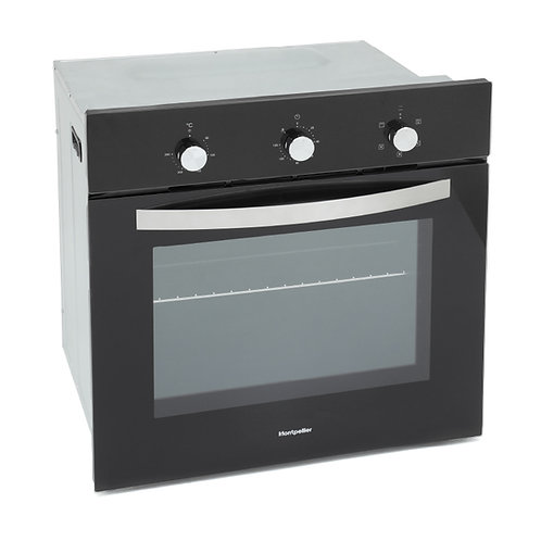 Montpellier SBF059B Single Oven Black