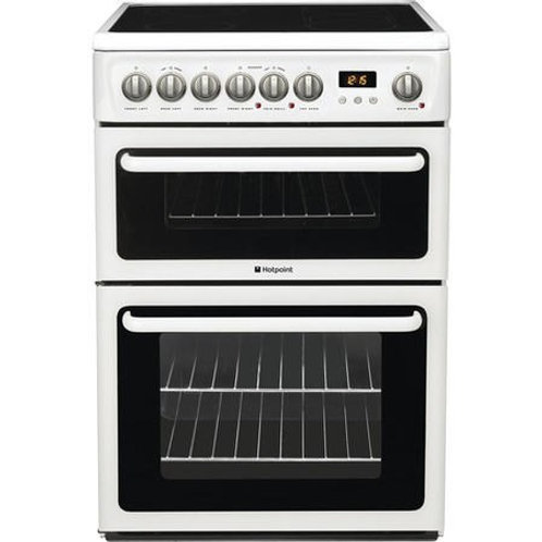 Hotpoint HAE60PS 60cm White Double Oven & Ceramic Top