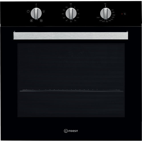 Indesit IFW6330BL Single Oven Black