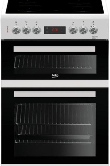 Beko KDC653W 60cm White Double Oven Cooker