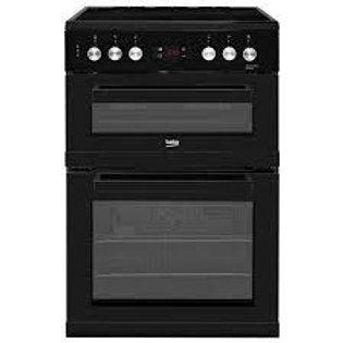 Beko KDC653K Black Double Oven & Ceramic Top