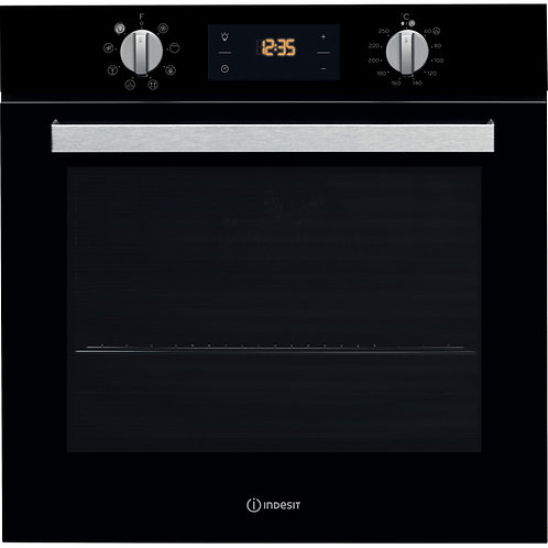 Indesit IFW6340BL Single Oven Black