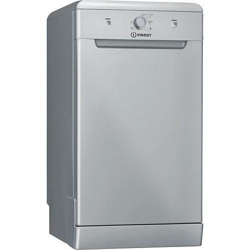 Indesit DSFE1B10SUKN Slim Dishwasher Silver