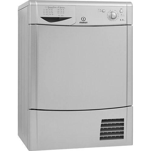 Indesit IDC8T3BS 8kg Condenser Dryer Silver