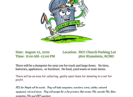 NEIGHBORHOOD CLEANUP 8.22.2020