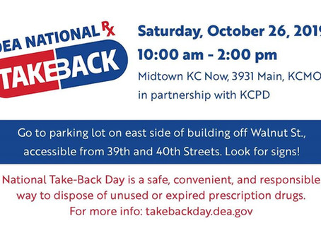 October 26, 2019  National Take-Back Day
