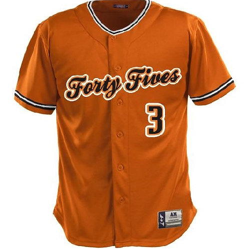 Forty Fives Custom Orange Jersey