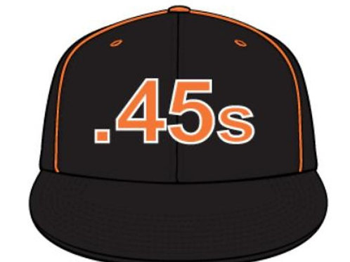 .45s Hat Black and Orange