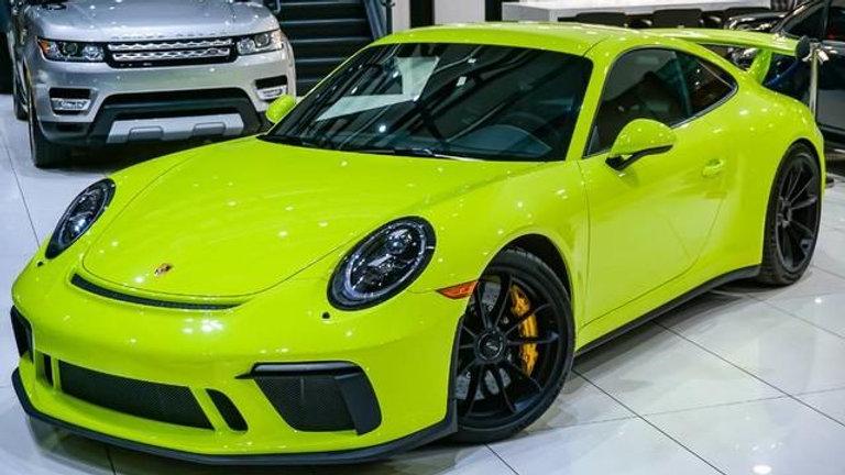 copy of 2018 Porsche 911 GT3 MANUAL TRANSMISSION* GREEN/BLACK