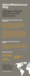 Climate change is one of the major, or arguably one of the most significant risk that organizations face currently. Unlike other risks, climate change effects are more challenging to calculate because these effects are considered long term and large-scale in nature. Due to this nature, some organizations disregard the importance of climate change on decisions made today.